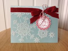 Stampin Up handmade Christmas card  snowflake by treehouse05, $4.50