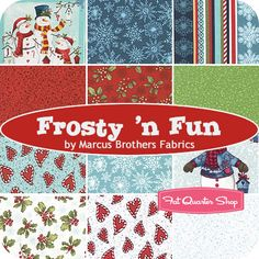 Frosty 'n Fun Fat Quarter Bundle Marcus Brothers Fabrics