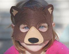 Carnival Costumes, Diy Halloween Costumes, Wood Badge, Bear Mask, Bear Felt, Book Week Costume, Bear Costume, Mask Template, Animal Masks