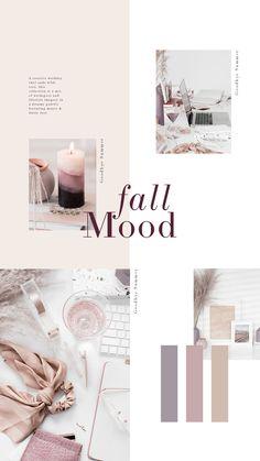 Soft, dreamy colors are perfect year round for a classic feminine look. Fall Color Palette, Color Palettes, Web Design Trends, Colour Schemes, Graphic, Color Inspiration, Branding Design, Instagram, Desktop Images