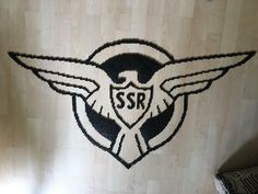 Agent Carter Strategic Scientific Reserve (SSR) Logo Perler Beads by Szilvi