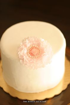 Vintage Ruffle Flowers | - The Baked Equation - Custom Cakes