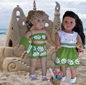 "AT THE BEACH 18"" doll knitting pattern - via @Craftsy"