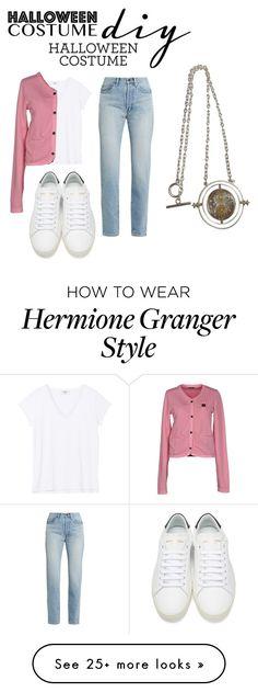 """Hermione Granger Halloween Costume Idea"" by shinee4ever on Polyvore featuring Blauer, Yves Saint Laurent, halloweencostume and DIYHalloween"