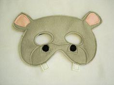 Children's HIPPOPOTAMUS Felt Safari Animal Mask by magicalattic, $12.50