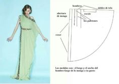 This actually looks like an easy pattern to sew.the picture could be used to fashion your own pattern. Dress Sewing Patterns, Sewing Patterns Free, Sewing Tutorials, Clothing Patterns, Diy Clothing, Sewing Clothes, Fashion Sewing, Diy Fashion, Modelista