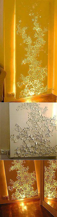 Стена-светильник: чудо своими руками ! | Самоделкино
