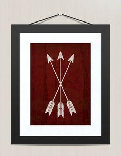 Cowboy Western Arrow Nursery Print, Nursery Wall Decor 8 x 10