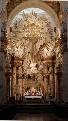 europeanarchitecture: St. Charles's Church / Karlskirche - architects Johann Bernhard Fischer von Erlach and Joseph Emanuel Fischer von Erlach, Vienna, Austria (by DragonSpeed)