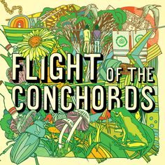 I love the cover art to this Flight of the Conchords CD.  The band is great too if you like fun music.
