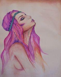 PrisecariuGeaninaArt: Breathing 40x30 colored pencils         ...