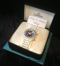 Our Omega Seamaster Watch Cake :)