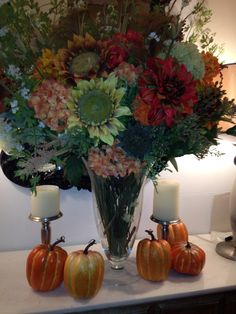 Thanksgiving floral arrangement done by me