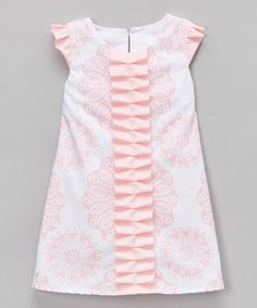 Loving this Pink Floral Angel-Sleeve Dress - Infant & Toddler on #zulily! #zulilyfinds