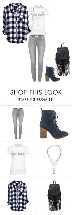"""Untitled #91"" by slayedbyk on Polyvore featuring Paige Denim and Steve Madden"