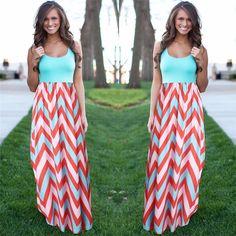 여성 여름 해변 보헤미안 맥시 드레스 2016 고품질 브랜드 스트라이프 인쇄 긴 드레스 여성스러운 플러스 사이즈