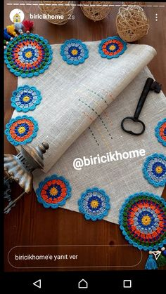 Crochet Table Mat, Bargello, Baby Knitting Patterns, Crochet Doilies, Diy Gifts, Embroidery Designs, Diy And Crafts, Mandala, Projects