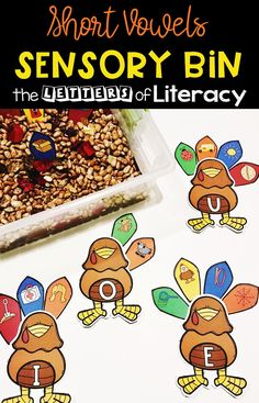 Practice CVC Words with this Thanksgiving CVC Sensory Bin and get FREE Printables for your Kindergarten! Thanksgiving Activities For Kids, Thanksgiving Preschool, Kindergarten Centers, Kindergarten Classroom, Literacy Centers, Kindergarten Quotes, Reading Centers, Math Stations, Speech Activities