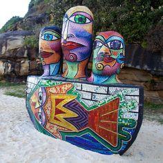 "Deborah Halpern's ""Ship of Fools"" at Sculpture by the Sea in Sydney, 2011."