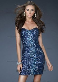 f41912c6621 Navy Short Formal Fitted StraplessHomecoming Dress Cheap  Navy Short  Homecoming Dress  -  159.00