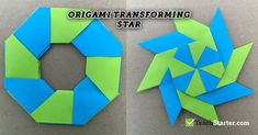 Have you packed all your craft gear away? That& ok - all you need is eight sticky notes per student for this cool origami transforming star. Origami Rose, Origami Ball, Origami Stars, Origami Flowers, Origami Paper, Ninja Star Origami, Dollar Origami, Origami With Post Its, How To Make Origami