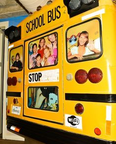 Check out the school bus in our lobby!