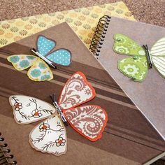 Mariposas de papel para decorar cuadernos