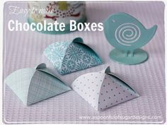 Chocolate Boxes add a special touch to a celebratory dinner and can be easily constructed from pretty scrap booking paper. They are the perfect size to hide a chocolate mint or chocolate coin. Long time readers may remember the little chocolate boxes that we made a few years ago, that were mentioned in this post here. A... Read More »