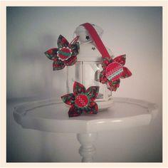 Flores de tela y fieltro felt and fabric flowers on - Flores de telas hechas a mano ...