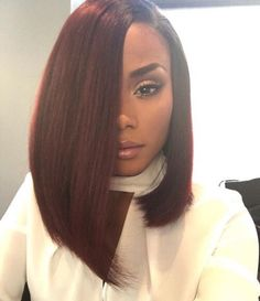 Bob hairstyles are the ones that will suit every texture and every face shape. Get ready to chop off your locks because these Gorgeous Bob Hairstyles for Black Women will tempt you beyond your imagination. Love Hair, Gorgeous Hair, Straight Hairstyles, Girl Hairstyles, Spring Hairstyles, Curly Haircuts, Weave Bob Hairstyles, Bob Haircut Weave, Black Hairstyles With Weave