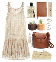 """""""Be True"""" by green-wild ❤ liked on Polyvore featuring Manebí, Calypso St. Barth, Madewell, philosophy, Topshop, NARS Cosmetics, Royce Leather and Ellis Faas"""