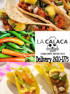 Hoje é #Quartafeira! vehna a disfrutar nossos #Tacos, #sopravocê no #LaCalacaTaqueria!!! # #ComidaTexMex #MogidasCruzes o no conforto de sua casa, #Delivery aos domingos, terça a quinta das 18:00 às 23:00 , sex e sab até as 00:00. DISK La Calaca 26101775 #ILoveTacos #Food