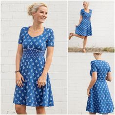 Neues Schnittmuster: Kleid Dira Pruella Mirarostock Schnittmuster Kleid Dira Meerliebe Anker The post Neues Schnittmuster: Kleid Dira appeared first on Kleider Sommer. Sewing Dress, Dress Sewing Patterns, Sewing Clothes, Crochet Clothes, Clothing Patterns, Diy Clothes, Crochet Patterns, Knitting Patterns, Trendy Dresses