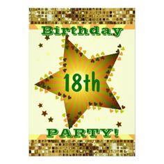 18th Or Any Age Birthday Party Invitation