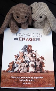 Edward's Menagerie is one my favorite crochet books. Crochet Bunny, Crochet Hats, Edwards Menagerie, Crochet Books, Alpacas, Baby Items, Arts And Crafts, Teddy Bear, My Favorite Things