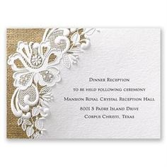 Easily personalized and shipped in a snap! Enjoy the look and feel of luxurious embossing for a great price. The Lacy Dream reception card is a great place to start. Create Wedding Invitations, Wedding Reception Cards, Marriage Reception, Wedding Reception Invitations, Wedding Cards, Wedding Ideas, Party Invitations, Wedding Venues, Wedding Decorations