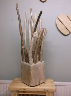 SOLD large driftwood table lamp floor lamp hand by Tomorrowstide