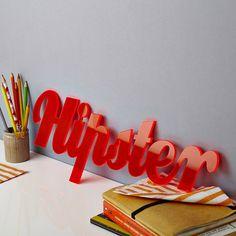 fluorescent acrylic statement sign by owl & cat designs | notonthehighstreet.com
