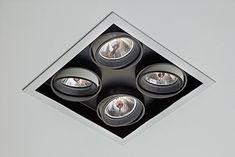 SAMBA Embutido orientável com sistema de giro orbital, com tecnologia LED integrada ou lâmpadas convencionais. Uso interno. Corpo em alumínio com acabamento em pintura pó epóxi por processo eletroestático. Anel antiofuscante e blackout pretos. Os modelos LED incluem driver. #lightdesignexporlux #lightingdesign #iluminacao #luminarias #lightdesign Samba, Lighting Design, Recessed Lighting Fixtures, Built Ins, Top Coat, Templates, Pintura, Light Design