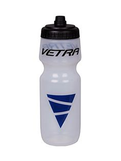 Bike Water Bottles - Vetra Sports Squeeze Water Bottle Leakproof Valve Hydration 650 ML ClearBlackBlue Running Cycling Bike Soccer Football NEW -- Click on the image for additional details.