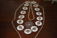 $25.00 This 3 strand necklace would be beautiful for everyday wear or for a special occasion such as a wedding or prom.  Please check out and like me on facebook at http://www.facebook.com/MeeshPieces