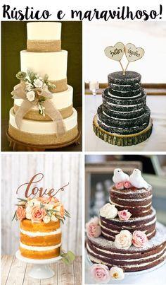 bolo de casamento rústicos