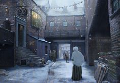 Victorian Alley - Winter by stayinwonderland on DeviantArt