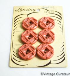 Hey, I found this really awesome Etsy listing at https://www.etsy.com/listing/183265546/vintage-pink-buttons-on-cards