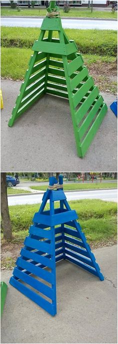 This is much a simple and easy crafted wood pallet teepee design. The teepee amazing idea has been adjusted with the plain design wood pallet coverage that looks so unique. It would be giving your creation out with the impact of garden decoration accessories. See the image which we shared!