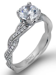 Simon G....oh my goodness   so simple and elegent yet so gorgeous...it even has the diamonds around the band  love!!!