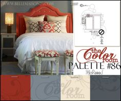 [beautiful color palette | rusty red, light grey blue, pale beige and dark grey blue]