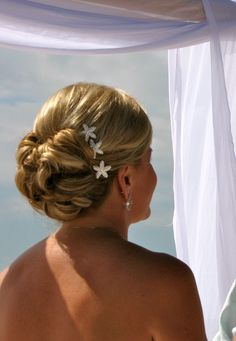 cute if the girls want the up do.....Hair for beach wedding