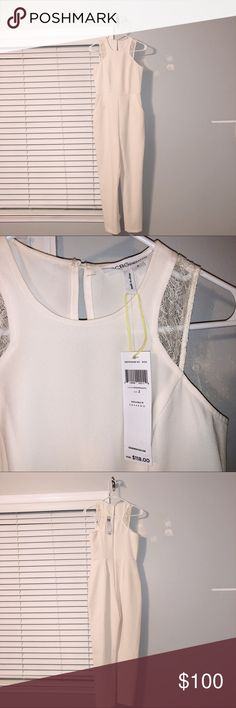 BCBG White jumper So cute and chic! Never worn want to sell to someone that will put it to good use! BCBGeneration Other White Jumper, Bcbgeneration, Product Description, Chic, Best Deals, Womens Fashion, Closet, Things To Sell, Style