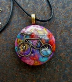 Like Riding a Bike Orgone Energy Pendant Necklace by TwoChez on Etsy